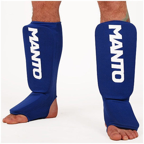 """Shin Guards"" Blue - Manto - Rebel Monkeys"