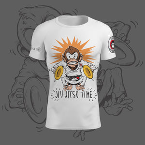 "Rebel Monkeys ""JIU-JITSU TIME"" by Gartista -  Adult Rashguard  PRE-ORDER - Rebel Monkeys"