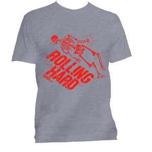 "Rebel Monkeys ""ROLLING HARD"" T-Shirt Grey - Rebel Monkeys"