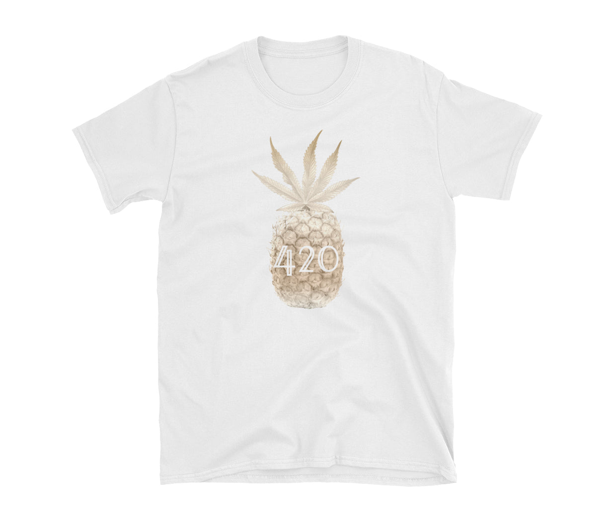 Mens Golden Pineapple Tshirt
