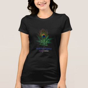 Womens Peacock Tee in Black