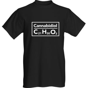 Mens Cannabidiol Tshirt Black