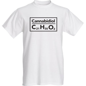 Mens Cannabidiol Tshirt White