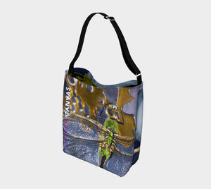 Messenger Bag - Dragonfly & Praying Mantis
