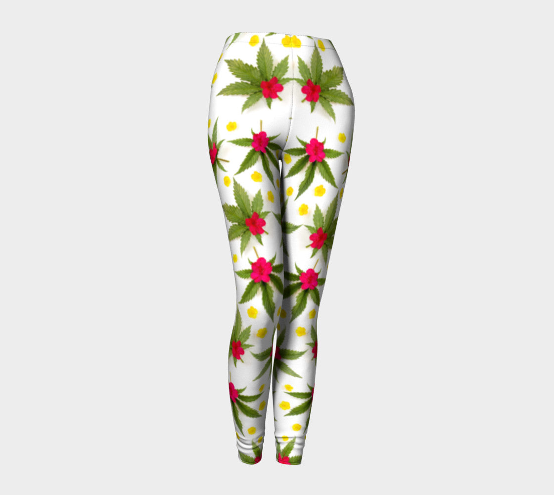 Spring Canna Flowers Leggings