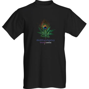 Mens Peacock Black T-shirt