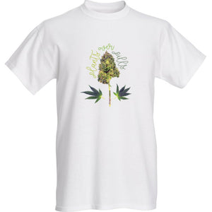 Mens Plants Over Pills T-shirt in White