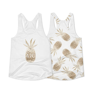Women's Racerback Tank - Golden Pineapple