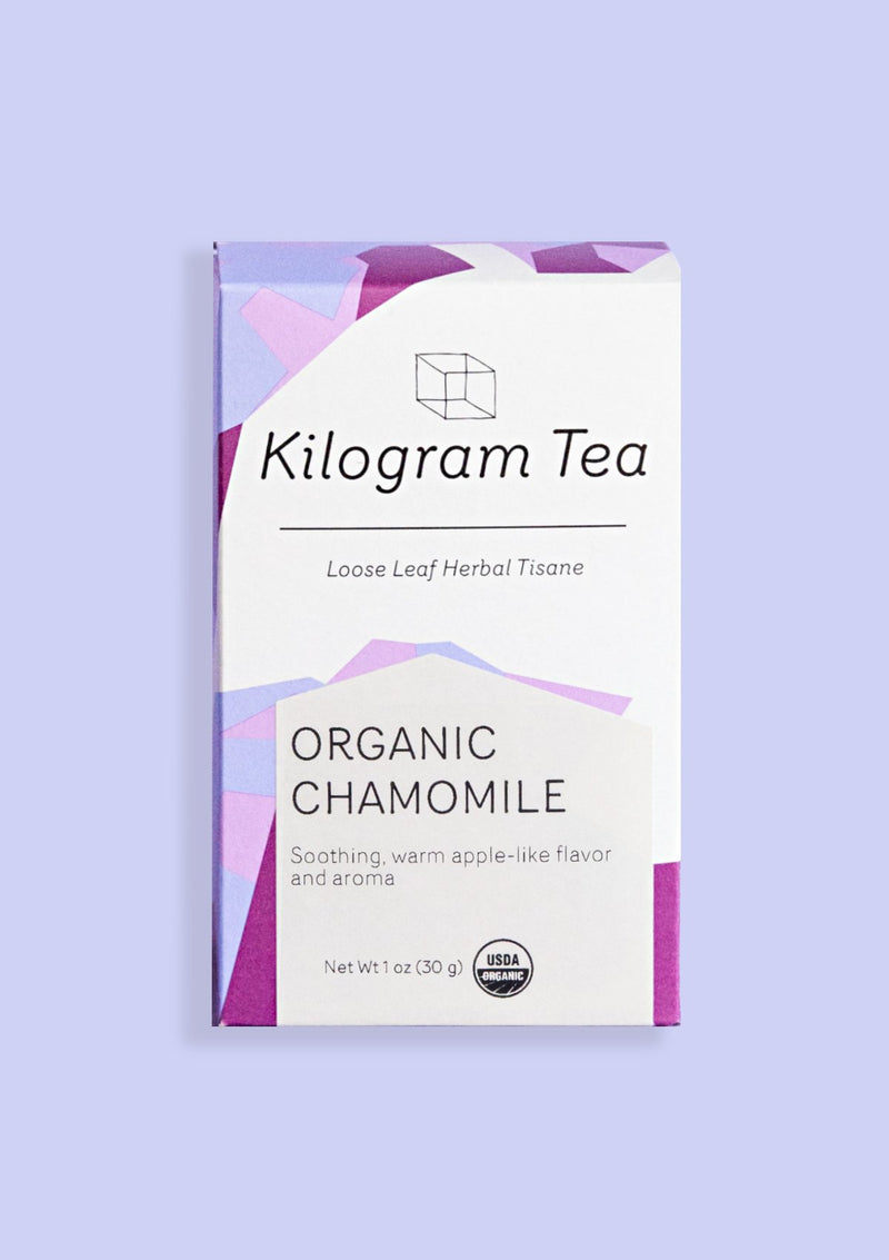 photo of box of organic chamomile kilogram tea