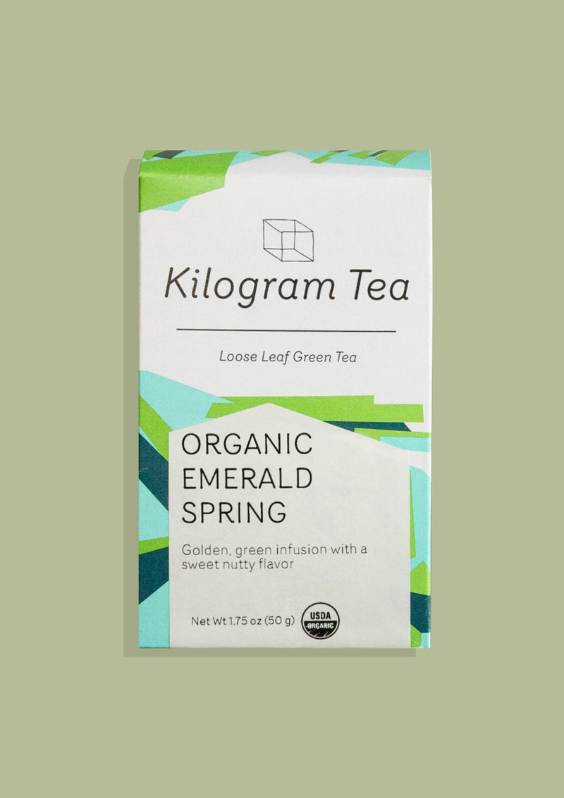 photo of box of organic emerald spring kilogram tea