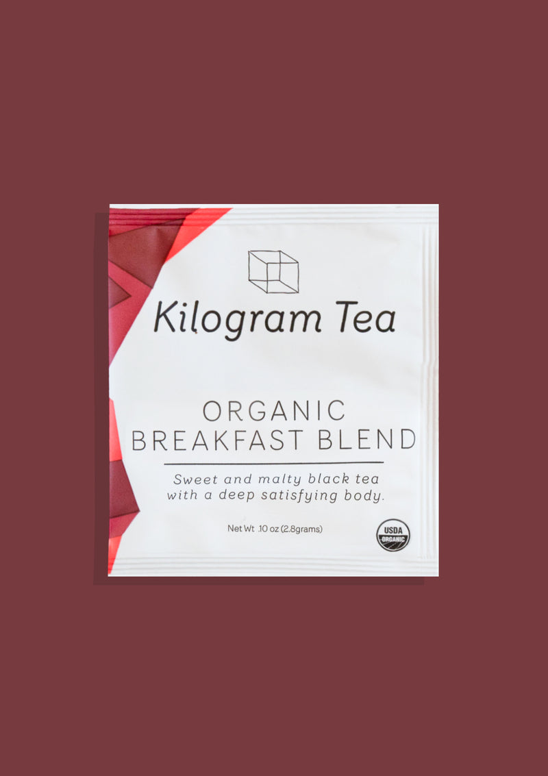 photo of organic breakfast blend kilogram tea individual packet