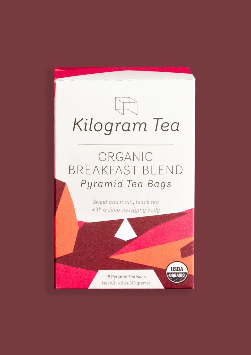 photo of box of organic breakfast blend pyramid kilogram tea