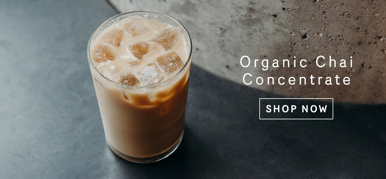 iced chai latte made with Kilogram chai concentrate