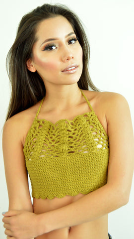 Green Giuliana Crop Top