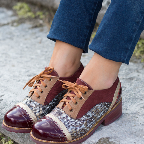Marsala Oxfords