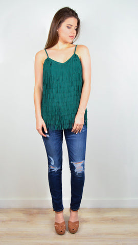 Party Fringed Kale Top