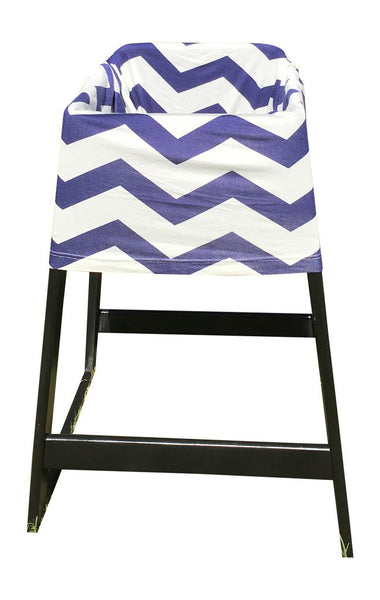 Blue Chevron Baby Car Seat Cover On High Chair