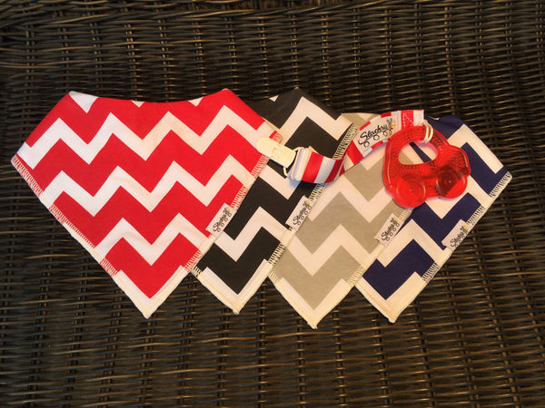 Blue Chevron Car Seat Cover Gift Set
