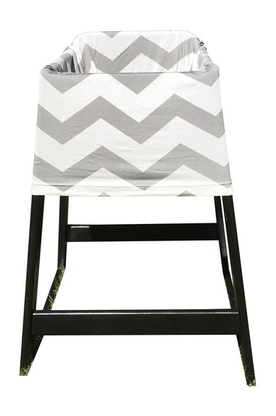 Gray Chevron Baby Car Seat Cover On High Chair
