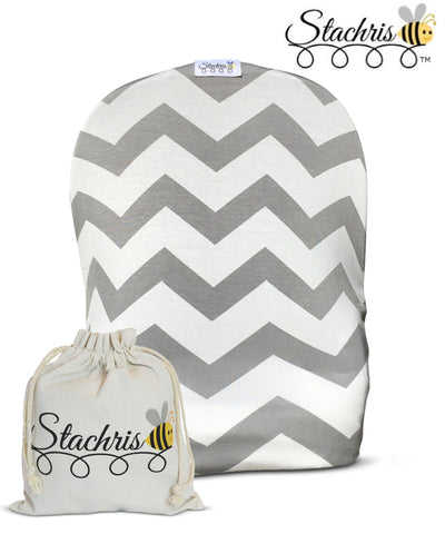 Gray Chevron Infant Car Seat Cover