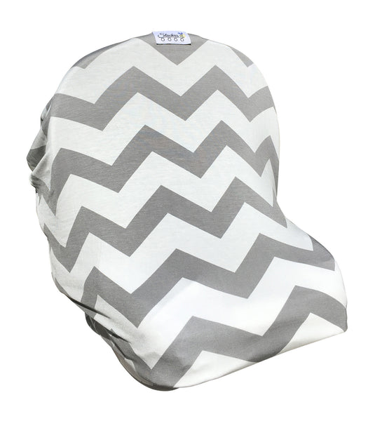 Free Monogramming Gray Chevron Infant Car Seat Cover