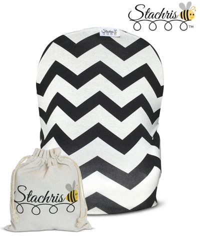 Black Chevron Infant Car Seat Cover
