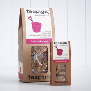 TeaPigs Rhubarb and Ginger 15ct