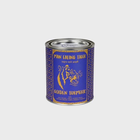 Man Eating Tiger Golden Turmeric Tins