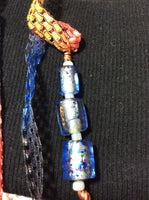 Color Splatter Blue Glass Pendant