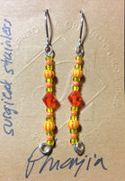 Orange Petite Dangle Earrings