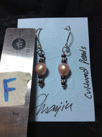 Pink Pearl Stainless Earrings
