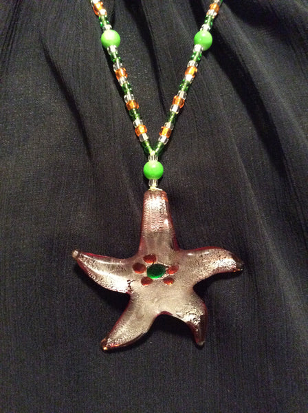 Glass Starfish Necklace