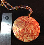 Orange Mother of Pearl Necklace
