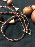Mammoth Wood Bead Necklace