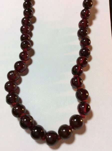 Purple Vintage Glass Bead Necklace