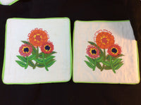 Pretty Set of 4 Handmade Cloth Coasters