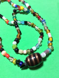 Multi-Color Handmade Glass Bead Necklace