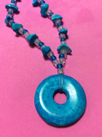 Blue Howlite Handmade Necklace