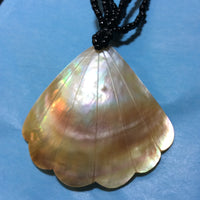 Scalloped Carved Mother of Pearl Necklace