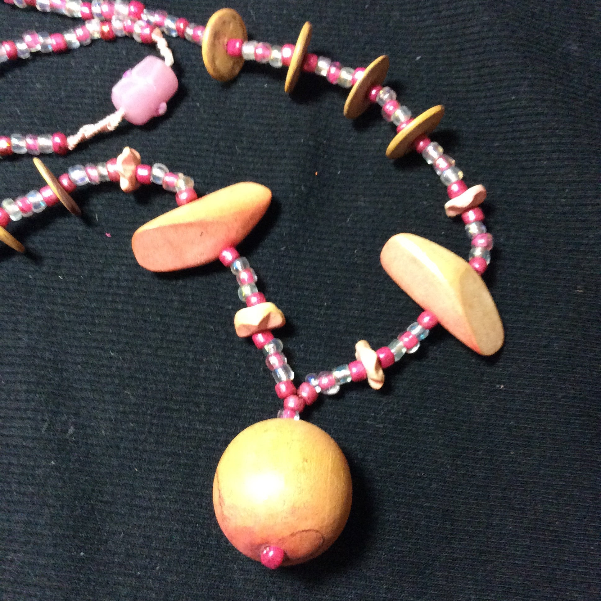 Pink Passion  Retro Handmade Necklace