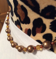 Vintage Glass Pearl Necklace