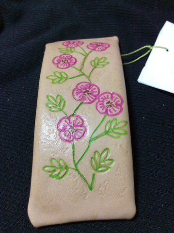 Leather Hand Stamped Barrette