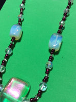 Aurora Borealis Dichroic Glass Handmade Necklace
