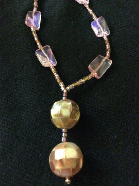 Mother of Pearl Inlay Handmade Necklace