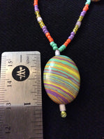 Colorful Glass Bead Handmade Necklace