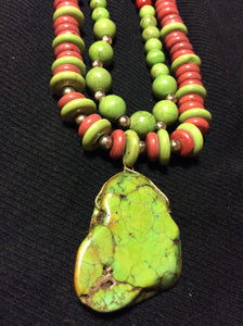 Green Apple Howlite Handmade Necklace