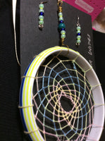 Pastel Dream Catcher Pendant and Stainless Earrings