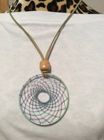 Pastel Green Dream Catcher Handmade Pendant