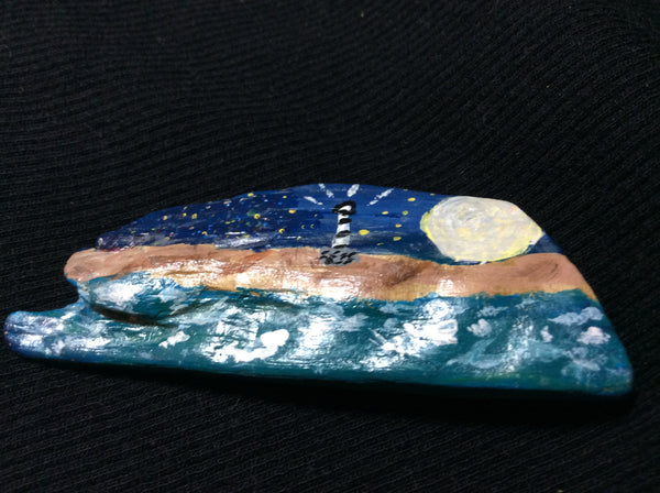 """Light Upon The Sand"" Mini Cape Hatteras Drfitwood Painting"