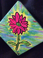 """Neon Flower"" Mini Canvas Painting"